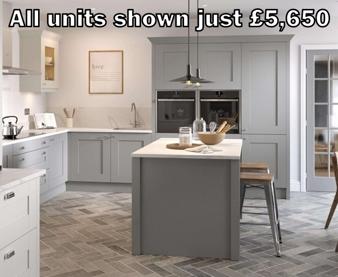 dust grey shaker kitchen 13.3