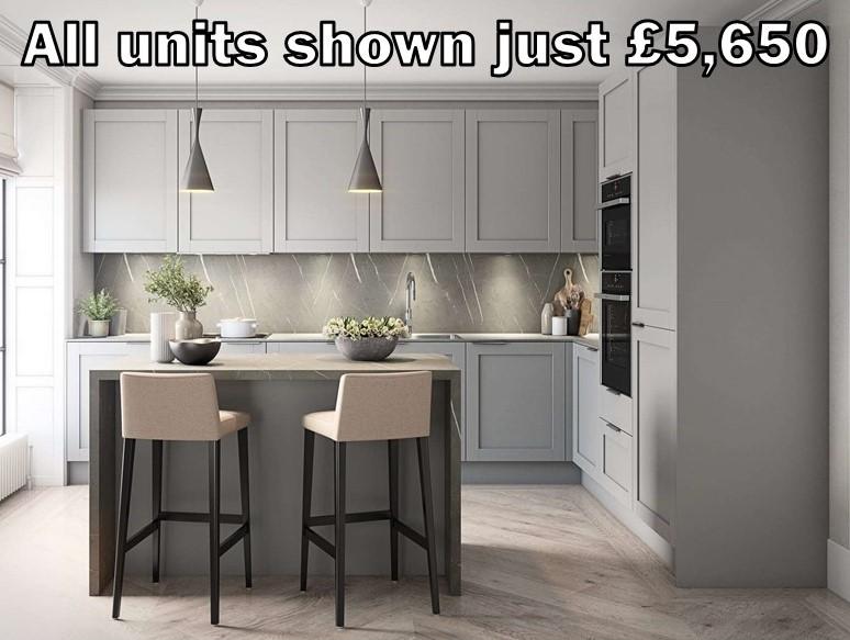 dust grey shaker kitchen 55