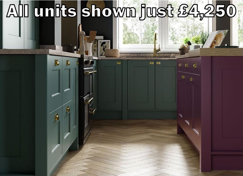 green shaker kitchen 2