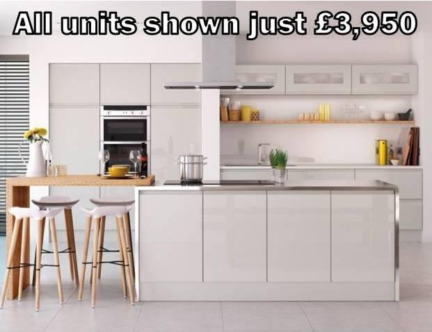 grey gloss handleless kitchen 3