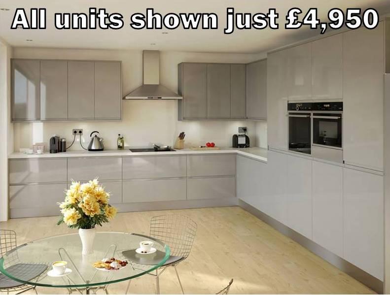 grey gloss handleless kitchen 41