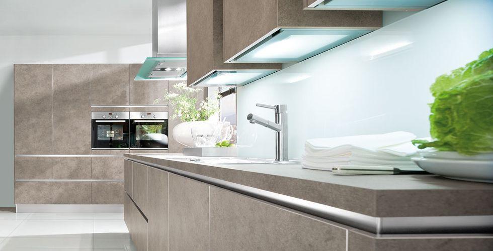 handleless matt kitchen