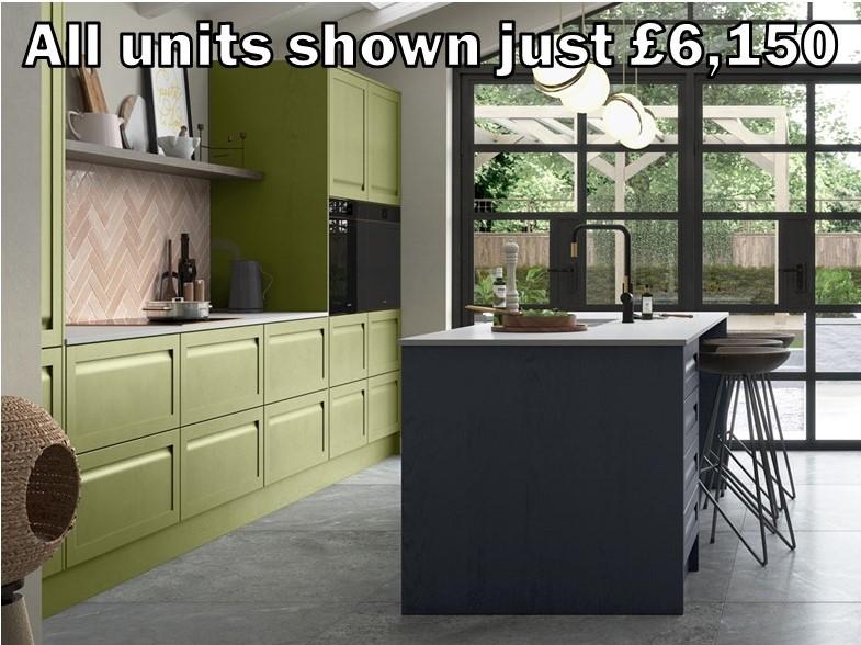 handleless shaker kitchen 8