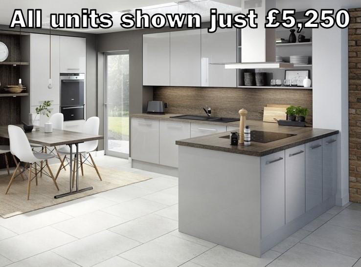 light grey gloss kitchen 101