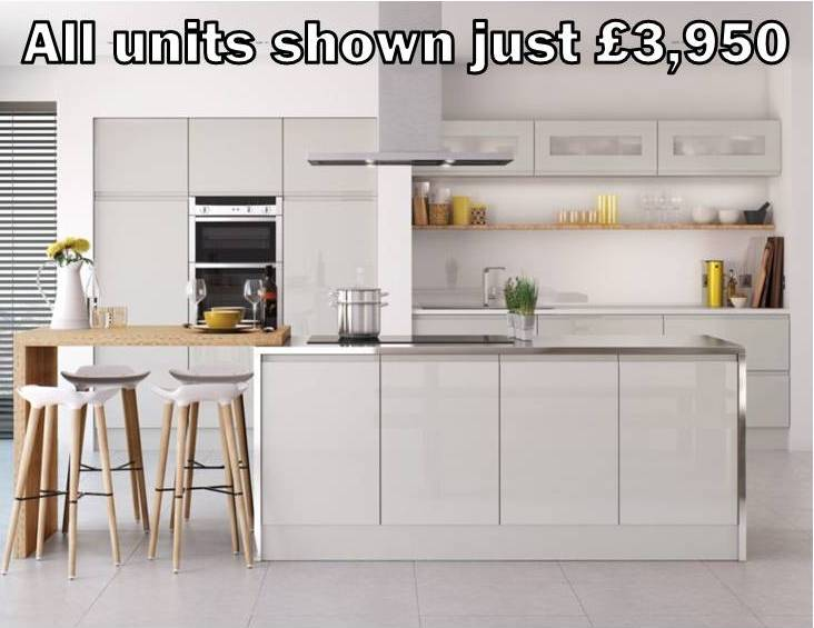 light grey gloss kitchen 17
