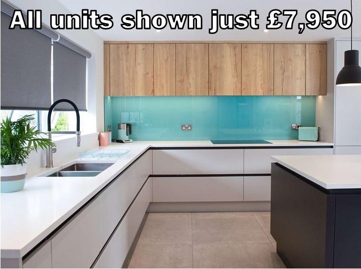 light grey matt handleless kitchen 302