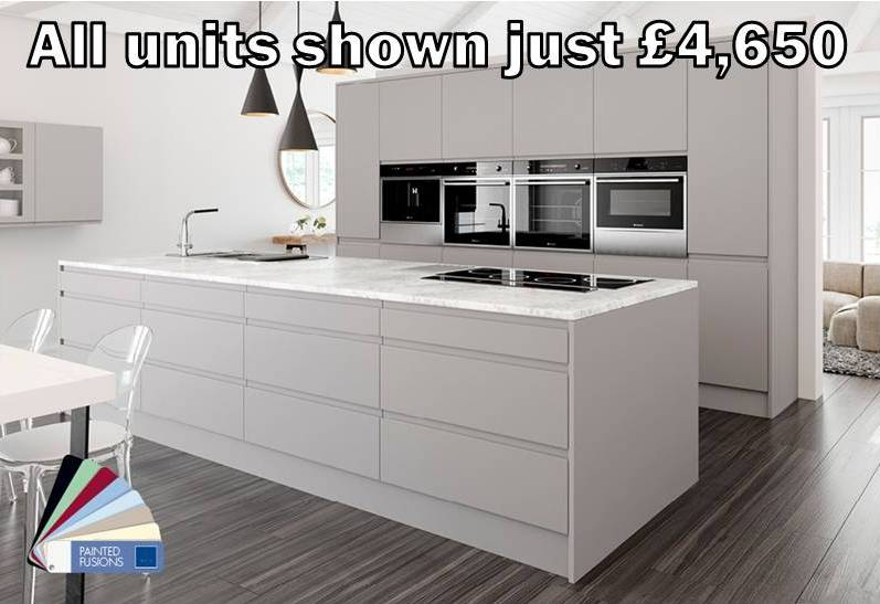 light grey matt handleless kitchen 5