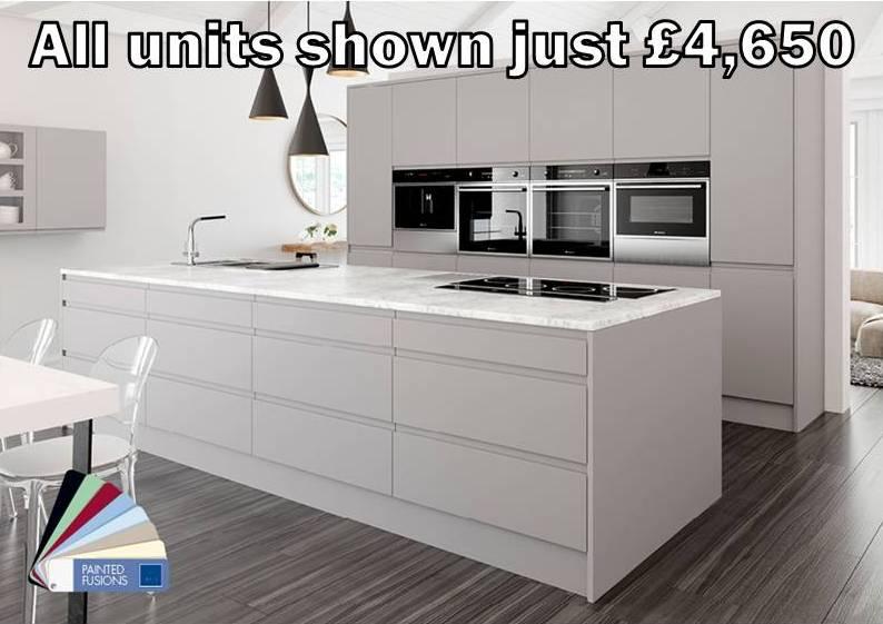 light grey matt handleless kitchen 6