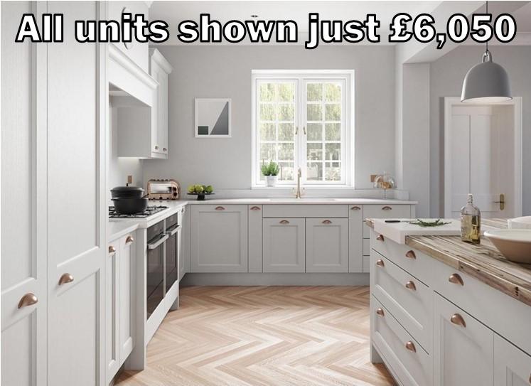 light grey shaker kitchen 351