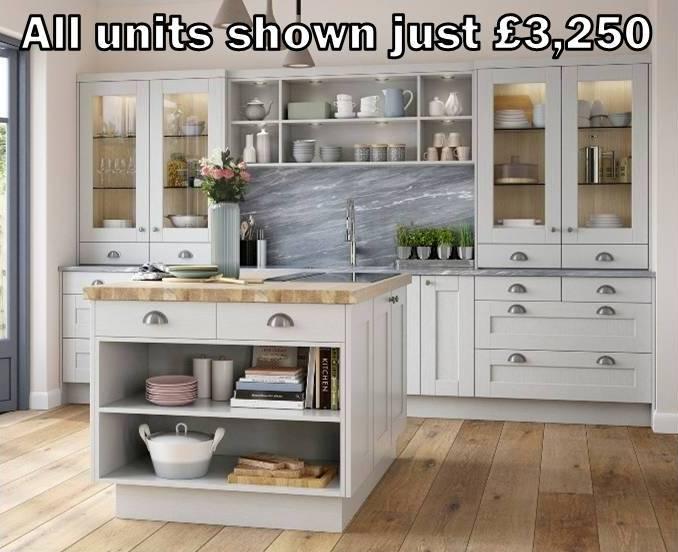 light grey shaker kitchen 4
