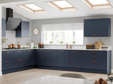 Matt Kitchen Dark Blue