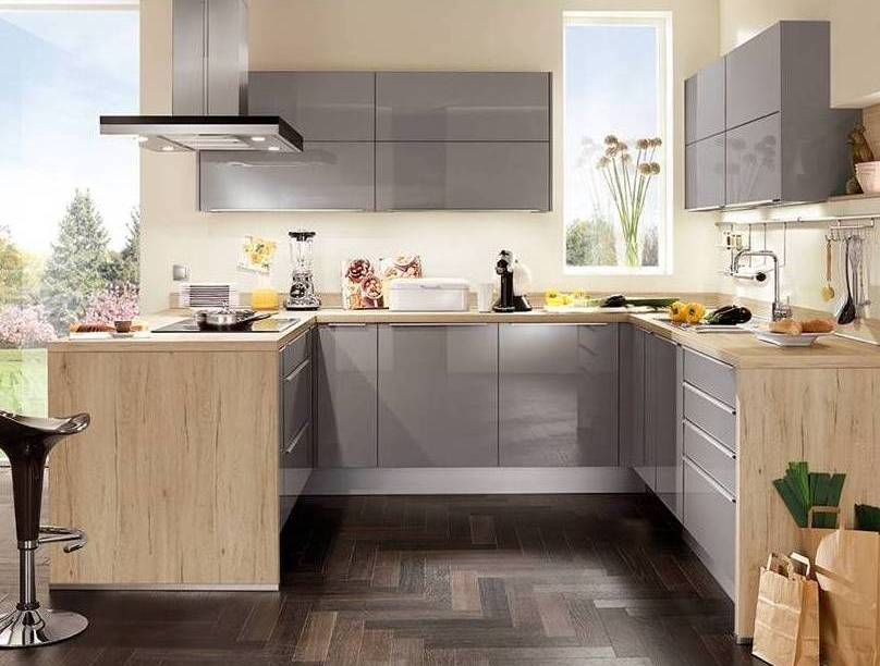 mid grey gloss kitchen 4