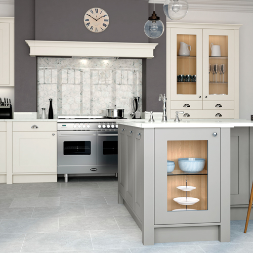 smooth painted shaker kitchen 10