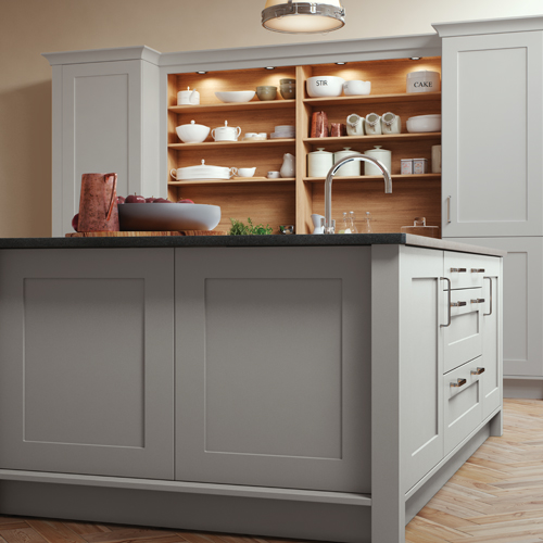 smooth painted shaker kitchen 11