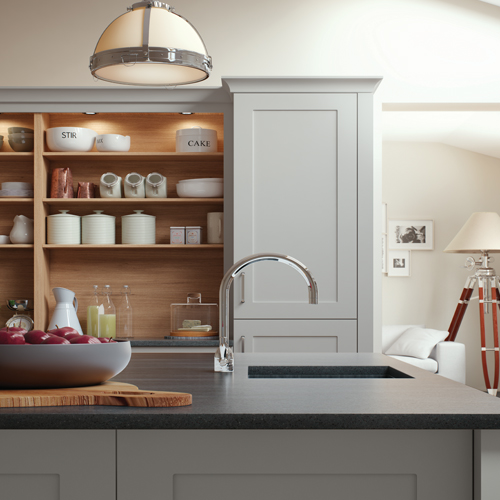 smooth painted shaker kitchen 12