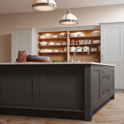 smooth painted shaker kitchen 4