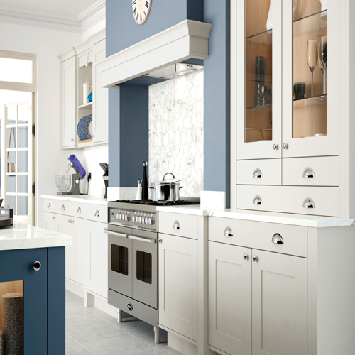 smooth painted shaker kitchen 6