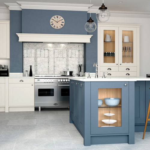 smooth painted shaker kitchen 7