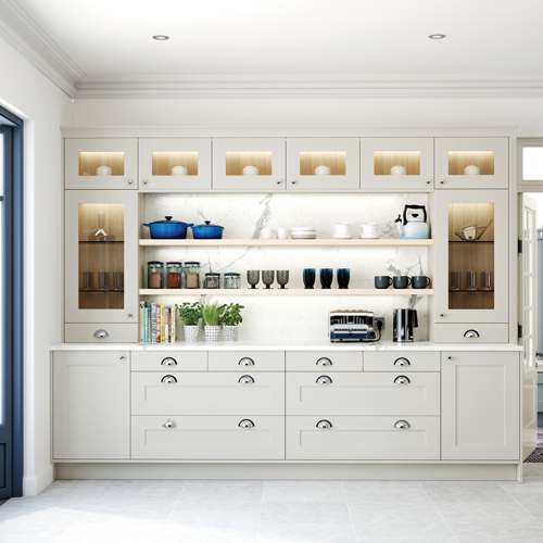 smooth painted shaker kitchen 8