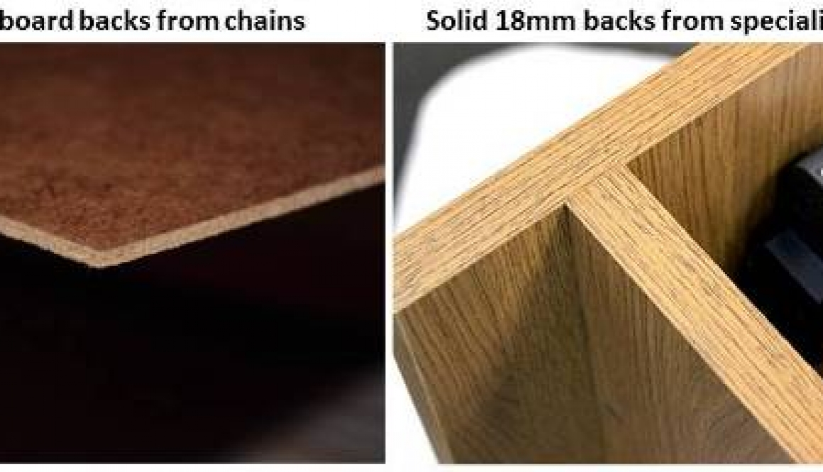 solid cabinet backs vs hardboard backs