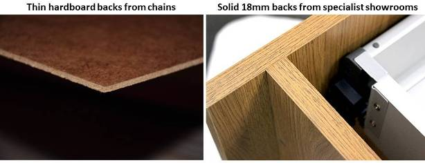 solid cabinet backs vs hardboard backs