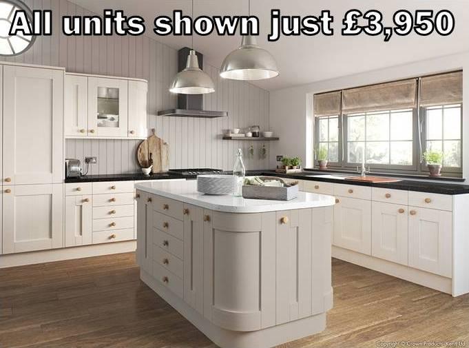 stone cream shaker kitchen 3