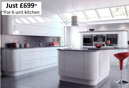white gloss kitchen example kitchenfindr. Black Bedroom Furniture Sets. Home Design Ideas