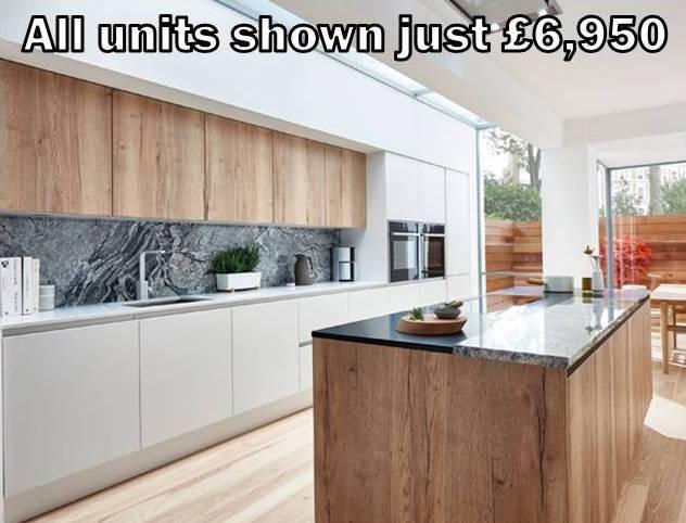 white matt handleless kitchen 23