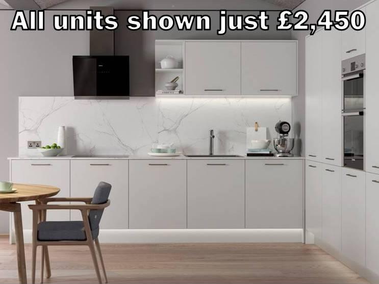 white matt slab kitchen 12